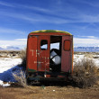 Abandoned truck in snowy rural Colorado. — Stock Photo #9310676