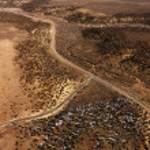 Roads Through a Desert Landscape — Stock Photo