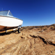 Motorboat in Arizona desert. — Stock Photo