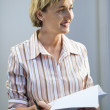 Stock Photo: Businesswoman smiling.