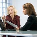 Businesswomen working — Stock Photo