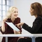 Businesswomen at work — Stock Photo