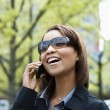 Woman on cellphone — Stock Photo