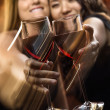 Women with red wine — Stock Photo
