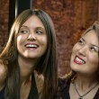 Smiling young women — Stock Photo