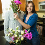 jovem casal na cozinha — Foto Stock