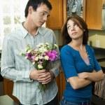 fidanzato implorando perdono — Foto Stock