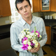 Man apologizing - Stock Photo