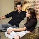 casal em casa — Foto Stock