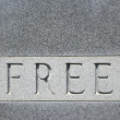 "Word ""free"" on gravestone. — Stock Photo #9311876"