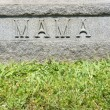Gravestone with &quot;Mama&quot; - Foto Stock