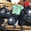 Stock Photo: Old rotary phones.