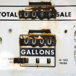 Old rusty gas meter — Stock Photo