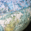 Close-up of old globe. — Foto Stock