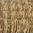 Stacks of metal fencing together. — Stock Photo