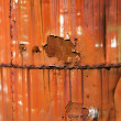 Stock Photo: Rusted orange metal.