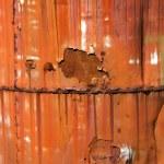 Rusted orange metal. — Stock Photo