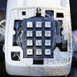 Old dirty telephone — Stock Photo