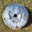 Old cog on ground. - Stock Photo