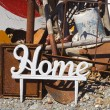 "Stock Photo: Word ""Home"" again junk."