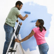 Couple painting together. — Stock Photo #9312380
