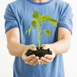 Man holding plant. — Stock Photo #9312548