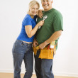 Man and woman with tools. — Stock Photo