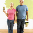 Couple with painting utensils. — Stock Photo #9313051