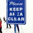Ski caution sign. — Stock Photo #9313107