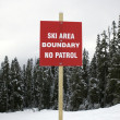 Stock Photo: Ski boundary sign.