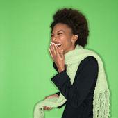 Ridendo donna — Foto Stock