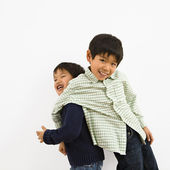 Young Asian brothers — Stock Photo