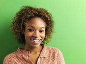 Smiling young woman portrait — Stock Photo