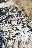 Snow covered sandy plains, Colorado. — Stock Photo