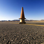 Cones on Airport Tarmac — Stock Photo