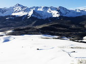 Snowy Colorado mountain landscape. — Stock Photo