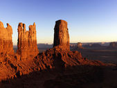 Tall Rock Formations in Monument Valley National Park — Stock Photo