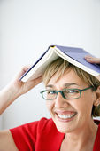 Woman with book. — Stock Photo