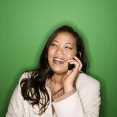 Businesswoman on cellphone. — Stock Photo