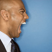 Businessman yelling. — Stock Photo