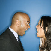 Businesspeople yelling at eachother. — Stock Photo