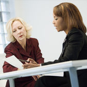 Businesswomen in meeting — Stock Photo