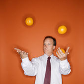 Business juggler — Stock Photo