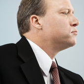 Businessman profile — Stock Photo