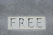 "Word ""free"" on gravestone. — Stock Photo"