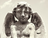 Cherub with wings statue. — Stock Photo