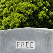"Gravestone with word ""free"" — Stock Photo"
