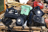 Old rotary phones. — Stock Photo