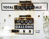Eski paslı gaz metre — Stok fotoğraf