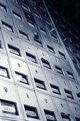 Vieilles boîtes aux lettres métalliques. — Photo